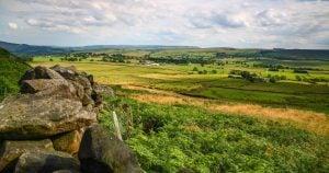 View of fields near Skipton North Yorkshire