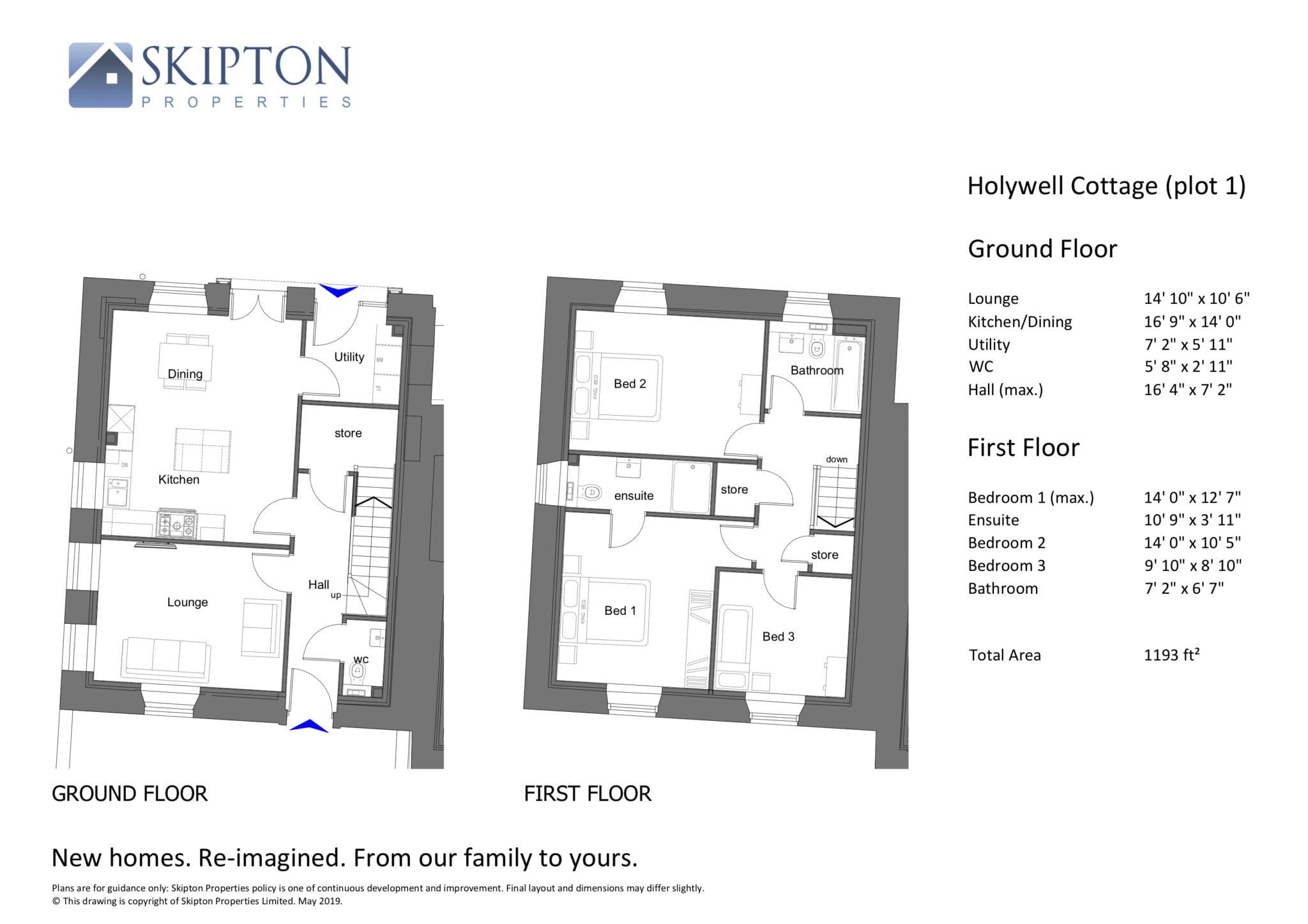 Holywell Cottage Floor Plan